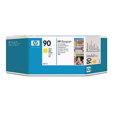HP 90 400-ml Yellow Ink Cartridges, 3-Pack (C5085A)