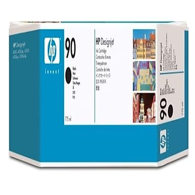 HP 90 400-ml Black Ink Cartridges, 3-pack (C5095A)