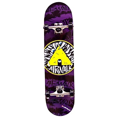 Airwalk Unraveled Skateboard, Teeth Purple