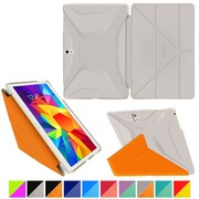 roocase Origami 3D Slim Shell Case for Galaxy Tab 4 10.1 Space Gray & Roocase Orange