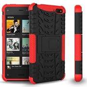 GearIT Fire Phone Hybrid Rugged Stand Case, Red