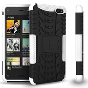 GearIT Fire Phone Hybrid Rugged Stand Case, White