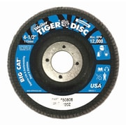 WEILER Big Cat High Density Flat Style Flap Discs, Grit 120