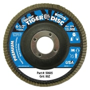 WEILER Tiger Disc Steel Angled Style Flap Discs, 4.5""