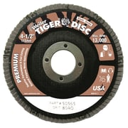 WEILER Tiger Disc Abrasive Flap Disc, Angled, Phenolic Backing, 80 Grit