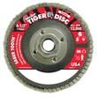"""WEILER Abrasive Flap Disc, 0.62"""" Arbor Thread"""