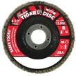 """WEILER Abrasive Flap Disc, 0.87"""" Arbor Thread"""