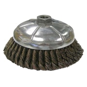 "WEILER 6"" Dia Vortec Pro Knot Wire Cup Brushes"
