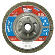 WEILER Abrasive Flap Disc, Angled, Aluminium Backing