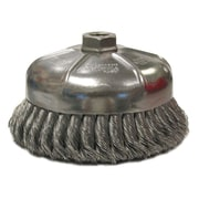 "WEILER 6"" Single Row Wire Cup Brush"