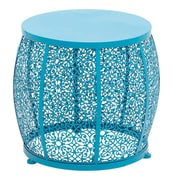 Woodland Imports The End Table; Blue