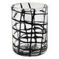 IMPULSE! Abstract Rocks Glass (Set of 4); Black