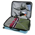 Traveler's Choice Freedom 3 Piece Lightweight Hard Shell Spinning/Rolling Luggage Set; Arctic Blue
