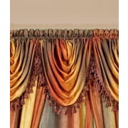 Achim Importing Co Ombre Waterfall 50'' Curtain Valance; Chocolate