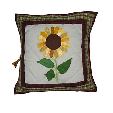 Patch Magic Sun Burst Cotton Throw Pillow