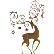 Room Mates 46 Piece Seasonal Ornamental Reindeer Peel and Stick Giant Wall Decals Set