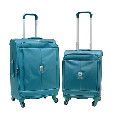 Delsey Extreme Lite 2.0 2-Piece Expandable Spinner Trolley Luggage Set, Turquoise Blue