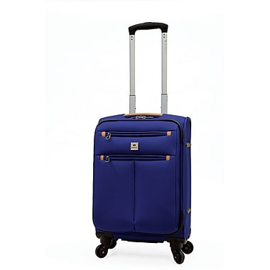 Samboro - Valise format cabine internationale Regal de 19 po, roues multidirectionnelles, rouge