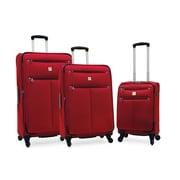 Samboro - Ensemble de 3 valises expansibles Regal à roues multidirectionnelles, rouge