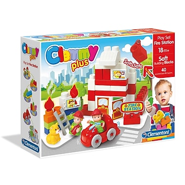 Clementoni Clemmyplus, Fire Station Set, 40 Pieces