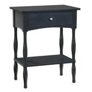 Alaterre Shaker Cottage End Table; Black
