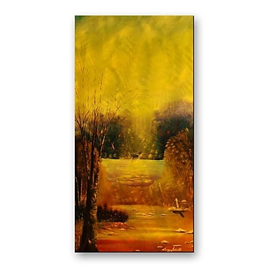 All My Walls 'Gold Reflection' by Lorenzo Roberts Painting Print Plaque