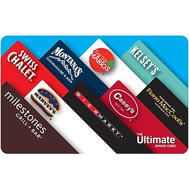 The Ultimate Dining Card 25 Gift Card Staples 174