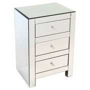 Wayborn Beveled 3 Drawer Mirrored Chest