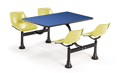 "OFM 1002 24"" x 48"" Rectangular Laminate Cluster Table with 4 Chairs"