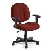 OFM Comfort 105-AA-803 Fabric Task Chair with Arms, Wine