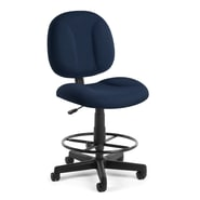 OFM Comfort 105-DK-804 Fabric Task Stool, Navy