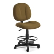 OFM Comfort 105-DK-806 Fabric Task Stool, Taupe