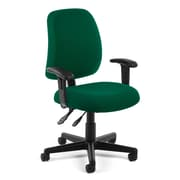 OFM Posture 118-2-AA-807 Fabric Task Chair with Arms, Green