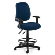 OFM Posture 118-2-AA-DK-804 Fabric Task Stool with Arms, Navy