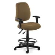 OFM Posture 118-2-AA-DK-806 Fabric Task Stool with Arms, Taupe