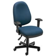 OFM Comfyseat 122-804 Fabric Computer Task Chair with Arms, Navy