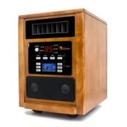 Music Heater 1,500 Watt Portable Electric Infrared Cabinet Heater w/ Adjustable Thermostat