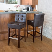 Christopher Knight Home Exclusives 30'' Bar Stool with Cushion (Set of 2); Brown