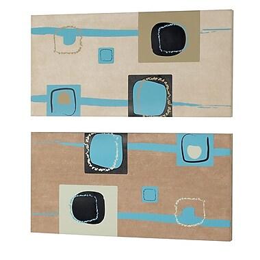 Dainolite 2 Piece Square Graphic Art Set