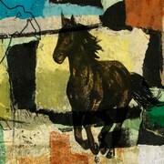 Abstract Horses 2 Art, 24 x 24