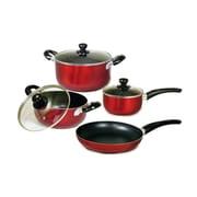 Better Chef® 7-Piece Non Stick Aluminum Cookware Set, Red