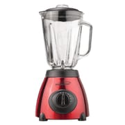 Brentwood® 5-Speed 500 W Blender With Stainless Steel Base and Glass Jar, Red