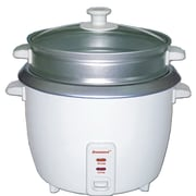 Brentwood® 5-Cup Metal Rice Cooker With Steamer, White