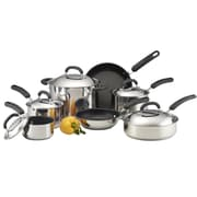 Circulon Steel® 12-Piece Non Stick Stainless Steel Cookware Set, Dark Gray