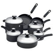 Circulon Steel® 12-Piece Non Stick Aluminum Cookware Set, Dark Gray