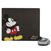 Disney 82010 USB Wired Optical Mouse and Mouse Pad Kit, Black