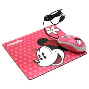 Disney Minnie 2-Piece Optical Mouse and Mouse Pad Kit, Pink