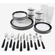 Gibson® 32-Piece Essex Dinnerware Set, Black