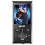 "Naxa® NMV-173-Portable Media Player With 1.8"" Screen/4GB Memory/FM Radio/microSD Card Slot, Silver"