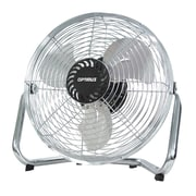 Optimus 3-Speed 9 Painted Grill High Velocity Industrial Fan, Silver